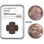 AA246, Great Britain, George V, Half Penny 1916, NGC MS65RB