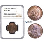 AA247, Great Britain, George V, Half Penny 1935, NGC MS65RB