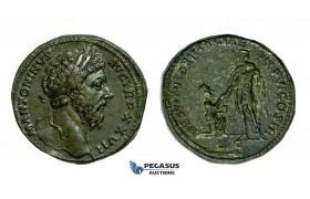 AA278, Roman Empire, Marcus Aurelius (161-180 AD) Æ Sestertius (24.07g) Rome, 172 AD, Kneeling Italia