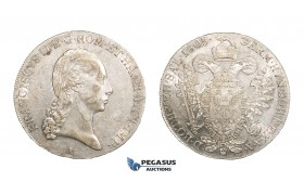 "AA279, Austria, Franz II,  ""Reichskrone"" 1/2 Taler 1805-A, Vienna, Silver (14.01g) Lustrous aEF, Rare!"