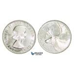 AA282, Canada, Elisabeth II, 25 Cents 1953-H, Heaton, Silver, Ch Lustrous PL