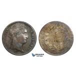 AA289, France, Napoleon, 5 Francs 1813-M, Toulouse, Silver, Dark toning, XF-AU