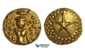 AA294, India (EIC) Madras Presidency, Gold Star Pagoda ND (ca. 1740-1807) Madras mint, Gold (3.38g) AU