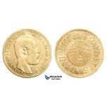AA317, Sweden, Carl XV, Carolin/10 Francs 1869 LA, Stockholm, Gold, aVF