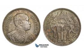 AA319, Thailand, Rama VI, Baht BE2460 (1917) Silver, Toned aUNC