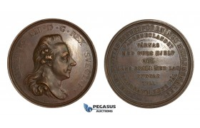 AA334, Sweden, Gustav III, Bronze Medal c. 1790 (Ø57mm, 50g) by Enhorning, Mining Association, Rare!