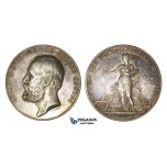 AA340, Sweden, Silver Art Nouveau Medal 1891 (Ø51mm, 62.4g) by Lindberg, Goteborg Agriculture Exhibition