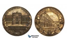 AA341, Sweden, Bronze Medal 1906 (Ø68mm, 129g) by Kulle, Swedish Central Bank
