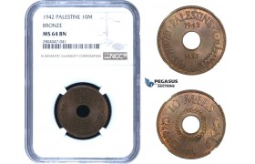 AA351, Palestine, 10 Mils 1942, London, NGC MS64BN