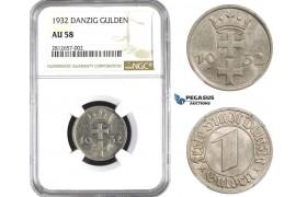 AA352, Poland, Danzig, Gulden 1932, NGC AU58