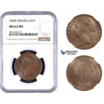 AA354-R, Straits Settlements, Victoria, Cent 1898, NGC MS63BN