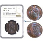 AA390, France, Napoleon III, 10 Centimes 1863-A, Paris, NGC MS63BN