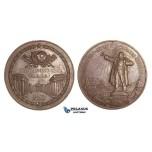 AA454, Soviet Russia, Bronze Medal ND (Ø75mm, 215g) by Sokolov, 250 Years of Leningrad