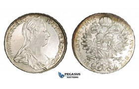 AA467, Austria, Maria Theresia, Taler 1780 TS-IF, Günzburg, Silver (27.99g) Struck 1798, Cleaned AU