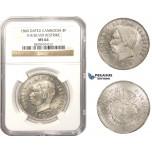 AA470, Cambodia, Norodom I, 4 Francs 1860, Phnom Penh, Silver, NGC MS64