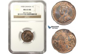 AA472, Canada, George V, 1 Cent 1930, NGC MS65RB