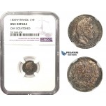 AA476, France, Louis Philippe I, 1/4 Franc 1835-W, Lille, Silver, NGC UNC