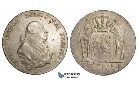 AA483, Germany, Prussia, Friedrich Wilhelm II, Taler 1793-A, Berlin, Silver (22.20g) VF-XF