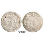 AA490, Italy, Corsica, Pasquale Paoli, 20 Soldi 1767 MM, Murato, Silver (3.71g) Weak struck, VF, Very Rare!