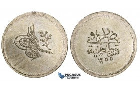 AA515, Ottoman Empire, Turkey, Abdul Mejid, 3 Para AH1255/1, Billon, UNC (Graffiti on Obv)