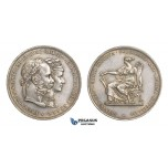 AA521, Austria, Franz Joseph, Double Gulden 1879, Vienna, Silver, 25th Wedding Anniversary, Cleaned AU