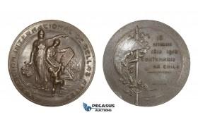 AA587, Chile, Bronze Medal 1910 (Ø60mm, 99.6g) by Lortschen, Fine Arts International Exhibition