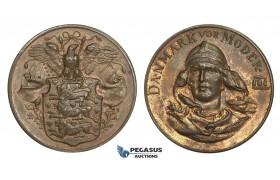 AA590, Denmark & United States, Bronze Medal ND (Ø31mm, 13.5g) Christiansborg Statue Fundraising, Rare!