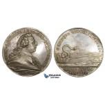 AA611, Sweden, Silver Medal (c . 1700) (Ø34mm, 14.9g) Herman Schutzercrantz, Surgery, Medicine, R!
