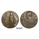 AA616, Sweden, Bronze Medal 1906 (Ø50mm, 66.8g) by Lindberg, Masonic Lodge, Egyptian Sphinx