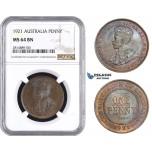 AA638, Australia, George V, Penny 1921, NGC MS64BN