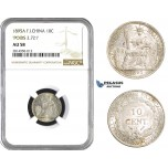 AA681, French Indo-China, 10 Centimes 1895-A, Paris, Silver,