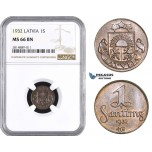 AA693, Latvia, 1 Santims 1932, NGC MS66BN, Pop 1/0