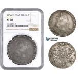AA706, Russia, Anna, Rouble 1736, Moscow Kadashevsky Mint, Silver, NGC XF40