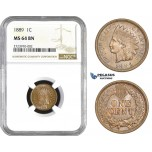 AA720, United States, Indian Cent 1889, Philadelphia, NGC MS64BN