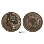 AA730, France & Germany, Bronze Medal 1827 (Ø50.5mm, 57.5g) by Gatteaux, Ludwig van Beethoven