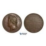 AA731, France, Bronze Medal 1837 (Ø51mm, 56.5g) by Barre, Dumont d'Urville, Antarctica South Pole Exploration