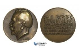 AA735, France & Russia, Bronze Medal 1937 (Ø68mm, 151.6g) by Turin, Paul Boyer, Russian Teacher