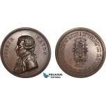 AC195, France & Austria, Bronze Medal 1800 (Ø55mm, 77.5g) by Gatteaux, Joseph Haydn