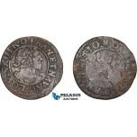 AD574, France, Louis XIII, Double Tournois 1630, Paris,