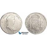 AD630, Mexico, Ferdinand VII, 8 Reales 1812 Mo JJ, Mexico City, Silver, Cleaned aVF