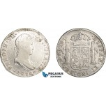 AD631, Mexico, Ferdinand VII, 8 Reales 1818 Mo JJ, Mexico City, Silver, Cleaned F-VF