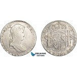 AD632, Mexico, Ferdinand VII, 8 Reales 1820 Mo JJ, Mexico City, Silver, Cleaned aVF