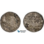 AD635, Lithuania, Sigismund III. of Poland, 3 Groschen (Trojak) 1597, Vilnius, Silver (2.24g) Toned VF-XF