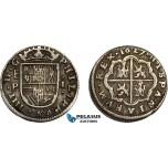 AD641, Spain, Philip IV, 1 Real 1627 (Aqueduct) P, Segovia, Silver (2.73g) XF