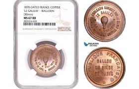 AE105, France, Copper Medal 1870 (Ø30mm)
