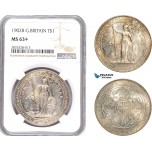 AE118, Great Britain, Trade Dollar 1902-B, Bombay, Silver, NGC MS63+