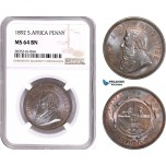AE173, South Africa (ZAR) 1 Penny 1892, Berlin, NGC MS64BN