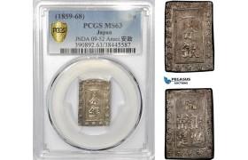 AE323, Japan, Ansei, Bu ND (1859-68) Silver, JNDA 09-52 Ansei 安 政, PCGS MS63