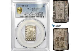 AE324, Japan, Meiji, Bu ND (1868-69) Silver, JNDA 09-54 Meiji 明 治, PCGS MS64+