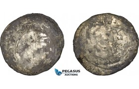 AE361, Hungary, Karl Robert, Groschen ND (1330-32) Silver (2.39g) Huszár: 443, deposits, corrosion